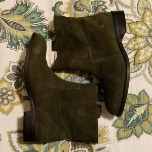 Land's End Suede Booties